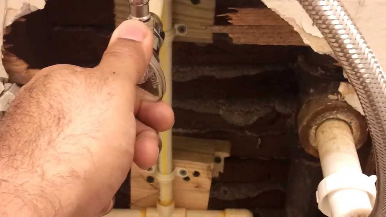 Water line vibrates and makes loud noise. Any suggestions? - YouTube