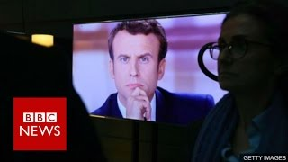 French election: Macron declared 'winner' of final debate - BBC News