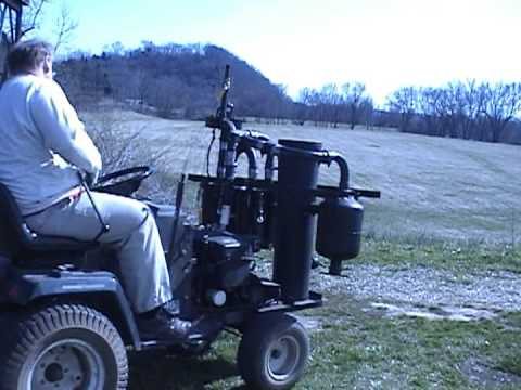 Wood Gas Lawn Tractor Start And Drive