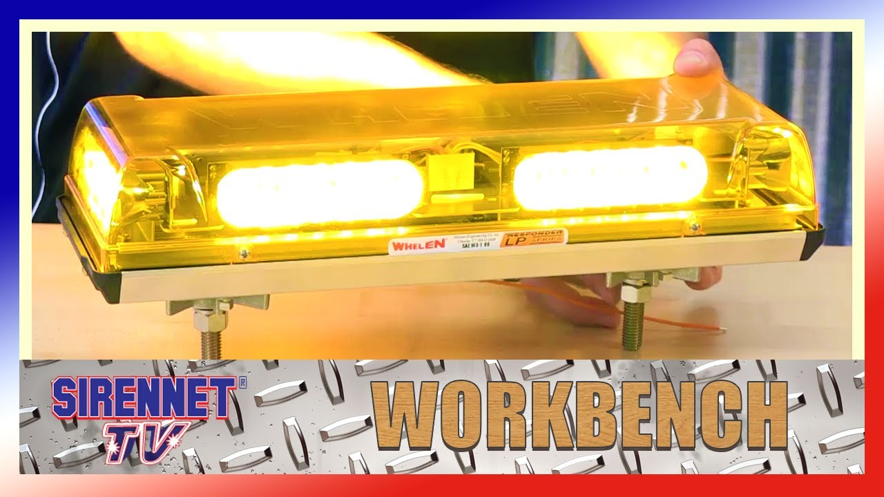 Whelen Responder Lp Mini Lightbar Mounting Options Youtube Light Bar Wiring Diagram