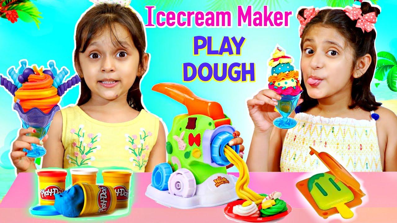 Play Doh Summer Ice Cream Maker Playset Toystars Youtube