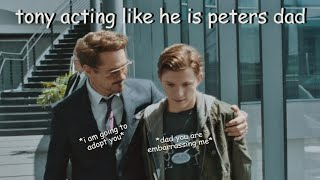 tony and peter being father and son