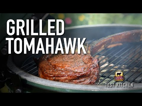 How to Reverse-Sear Tomahawk Steak on the Big Green Egg