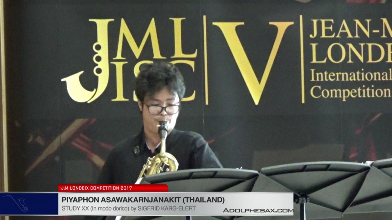 Londeix 2017 - Piyaphon Asawakarnjanakit (Thailand) - XX In Modo Dorico by Sigfrid Karg Elert