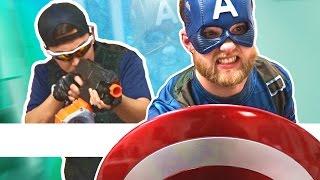 NERF Captain America Challenge!