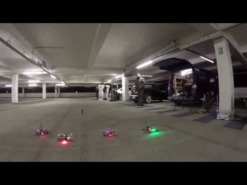 FPV RACING - 250 FPV Quadcopter racing in a carpark. BRING OUT THE DRONES!!