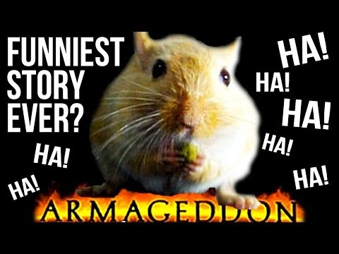 ARMAGEDDON! Radio announcer struggles with funny story!