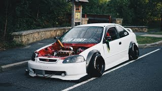 Crazy cambered civic ek is back!