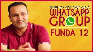 How to Get Out Of A WhatsApp Group | Viru Ke Funde - Ep 12