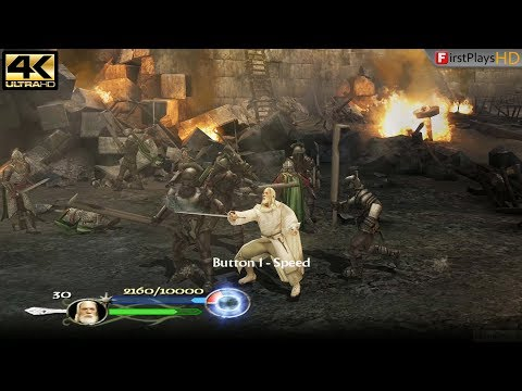 The Lord Of The Rings: The Return Of The King (2003) - PC Gameplay 4k 2160p / Win 10