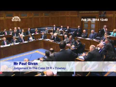 Paul Givan Speech - OTR debate