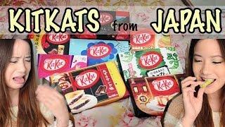Japanese Kitkat Taste Test | Wasabi, Chilli & More! 日本のキットカットを食べてみた!