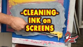 2 iLL Screen Printing - Cleaning - Ink on Screens