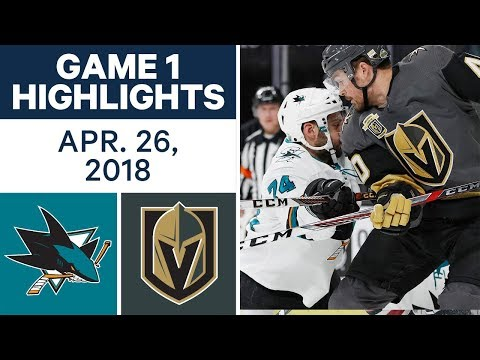 NHL Highlights | Sharks vs. Golden Knights, Game 1 - Apr. 26, 2018