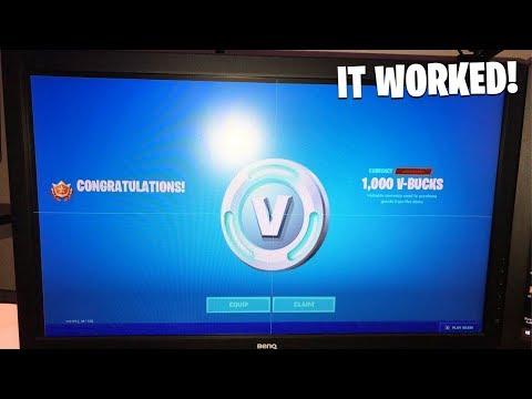 Fortnite Sent EVERYONE 1,000 V-BUCKS! (Thanks Epic!)