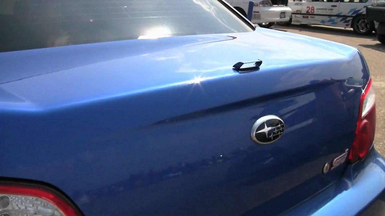 Smallest spoiler you've ever seen! (Subaru WRX STi)