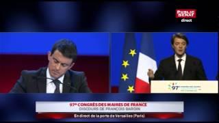 Discours de François Baroin au 97ème Congrès des maires de France