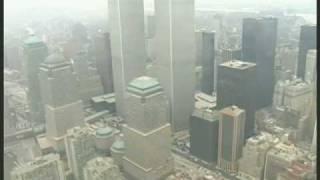 Flying over The World Trade Center New York