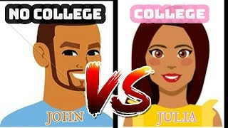 LIFE AFTER COLLEGE vs NO COLLEGE