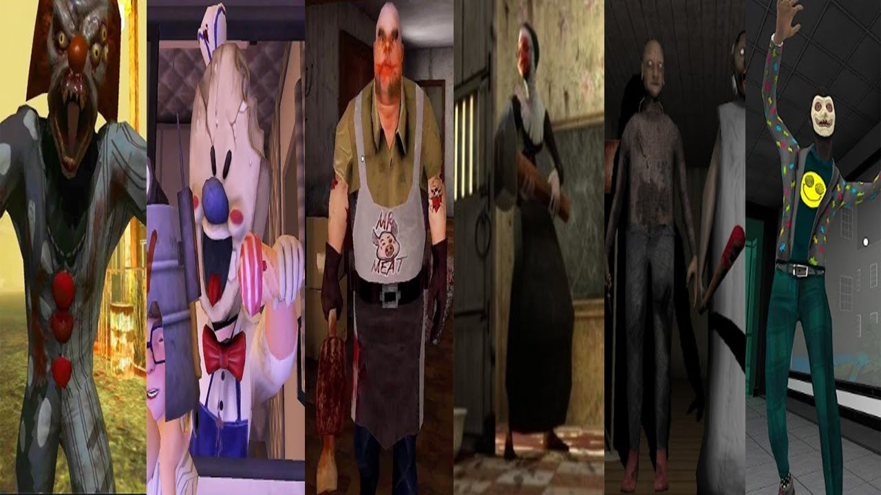 Death park,Ice Scream 3,Mr meat,Evil Nun,Granny Chapter Two,Smiling-X Corp