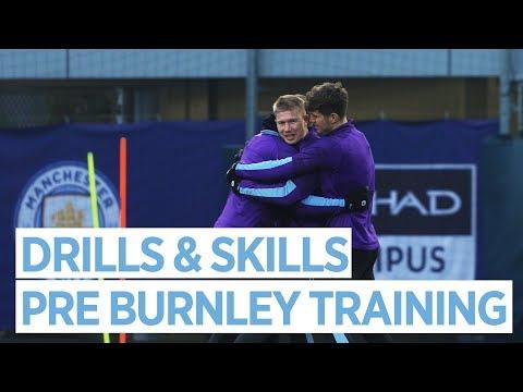 FUN DRILLS & SKILLS | Man City Train Ahead Of Burnley
