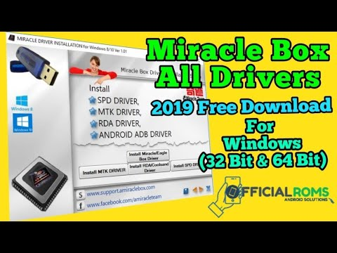 All In One Driver For Miracle Driver Like Qualcomm Driver ,Mtk Driver,Spd,adb Driver Fastboot Driver