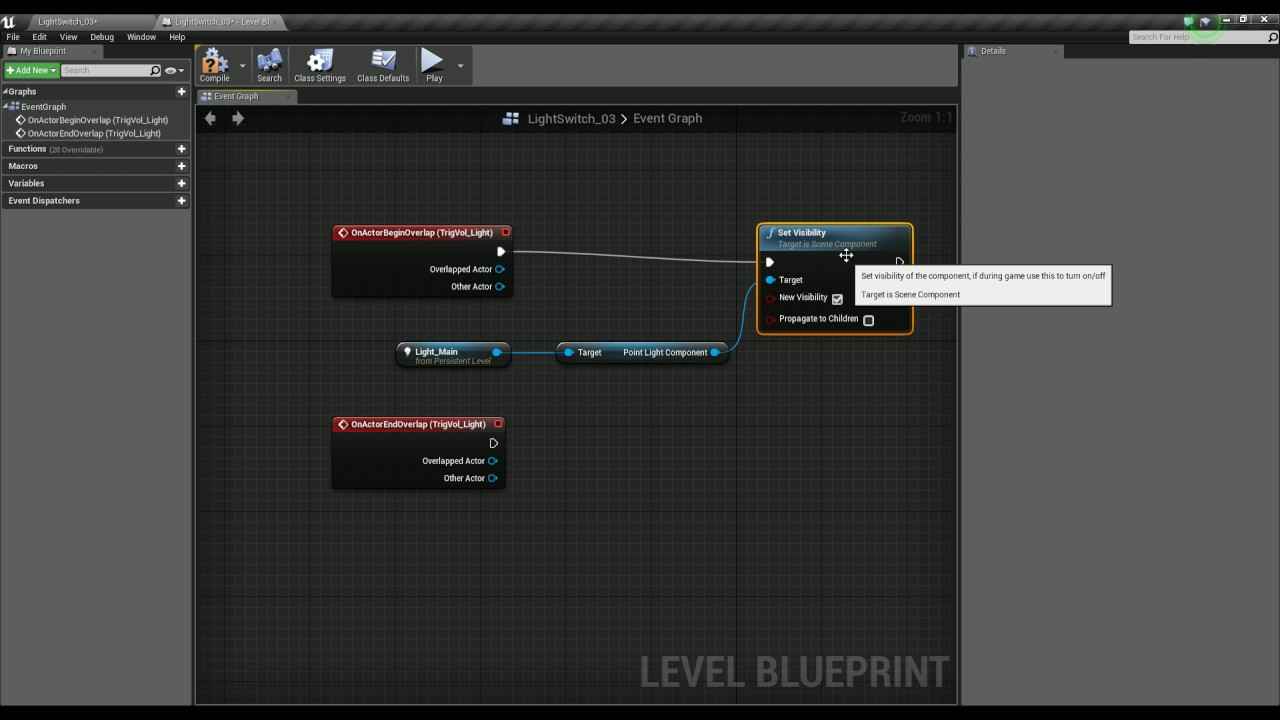 Using level blueprints to control a light in unreal engine youtube using level blueprints to control a light in unreal engine malvernweather Choice Image