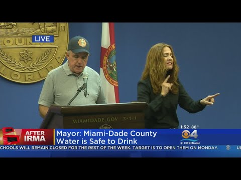 Miami-Dade County Mayor Gives Update On County Ops After Irma