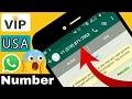 Whatsapp latest trick of U.S.A number   get V.I.P no. FREE