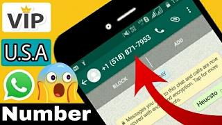 Whatsapp latest trick of U.S.A number | get V.I.P no. FREE