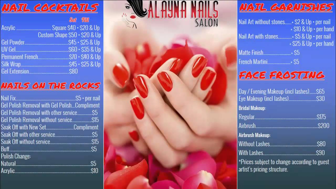 Nail salon Digital Signage System - YouTube