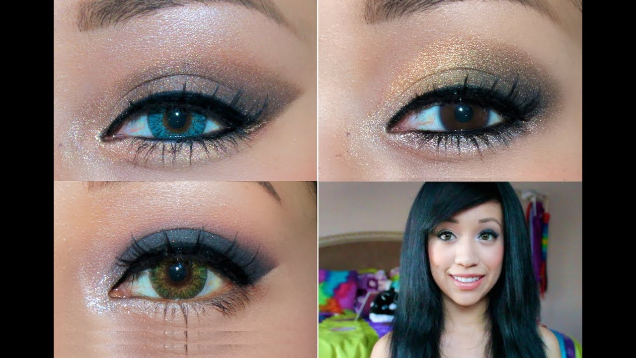 homecoming makeup tutorial: 3 looks for 3 different eye colors!