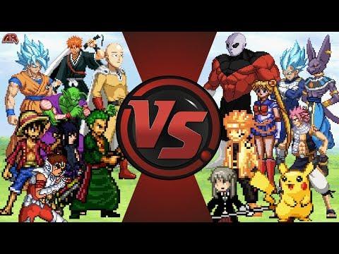 ANIME FREE FOR ALL! (Saitama vs Jiren, Goku, Naruto, Luffy, Pikachu, Ichigo & More!) AnimationRewind
