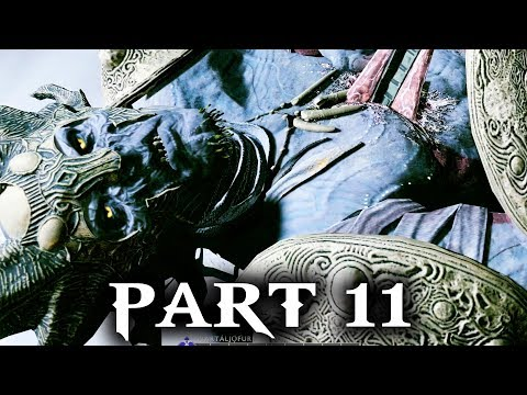 God of War Gameplay Walkthrough Part 11 - DARK ELF CAPTAIN BOSS (SVARTALJQFURR)
