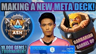 MENANG DI CLASH WITH ASH TOURNAMENT 10.000 GEMS DENGAN DECK BUATAN SENDIRI - CLASH ROYALE INDONESIA