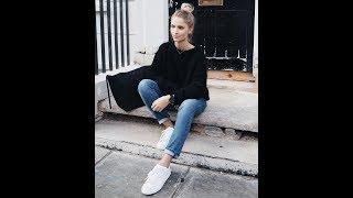 Boyfriend jeans with sneakers