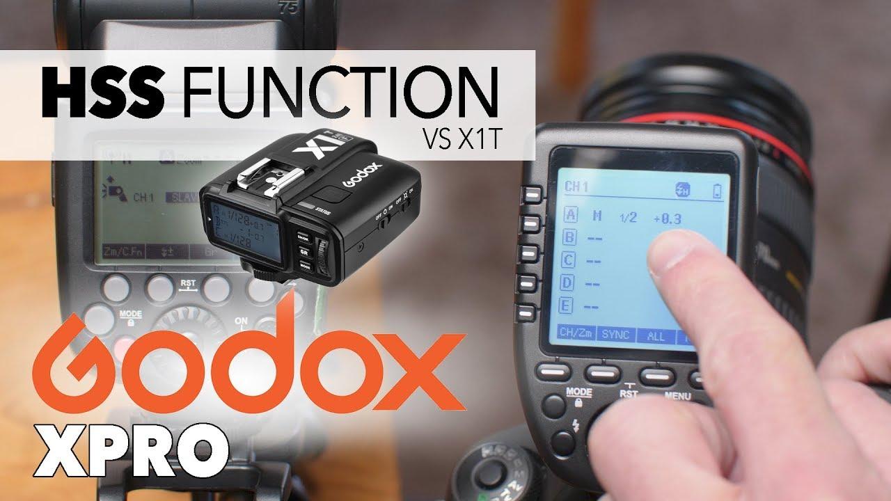 Godox Xpro Hss Function Vs X1 T