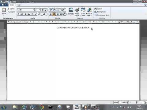 Crear un documento con WordPad( nivel basico) - YouTube  Crear un docume...