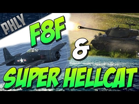 War Thunder Tanks! SUPER HELLCAT & F8F Combined Arms Gameplay!
