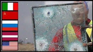 Shotgun Slugs VS  Bulletproof Glass - Witness Side Test