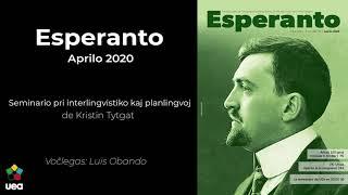 Voĉlegita Esperanto nr-o 4 2020 p. 94 – Seminario pri interlingvistiko kaj planligvoj