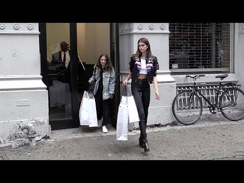 Kaia Gerber at Alexander Wang Office in NYC