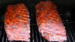smoked bbq spare ribs texas style