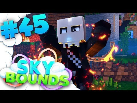 EVIL FIRE MONSTER ATTACK! | SKYBOUNDS ISLAND #45 (Minecraft SkyBlock SMP)