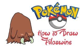 How To Draw Piloswine (POKEMON)