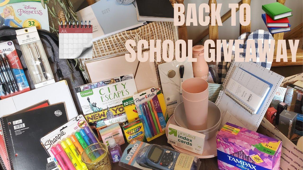 HUGE BACK TO SCHOOL GIVEAWAY 2020! 2 WINNERS!   OPEN