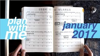 Plan With Me: January 2017 | Bullet Journal for University | Jaaananannn