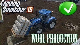 Wool Production | Feeding Cattle | Selling Wool | Farming Simulator 2015 | Gameplay