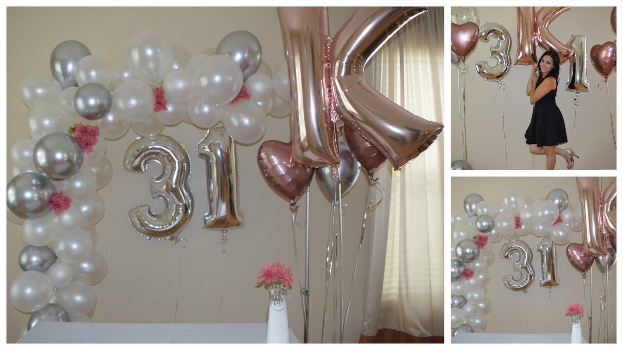 Ideas para decorar cumplea os 31 a os como hacer arco - Como decorar un cumpleanos ...