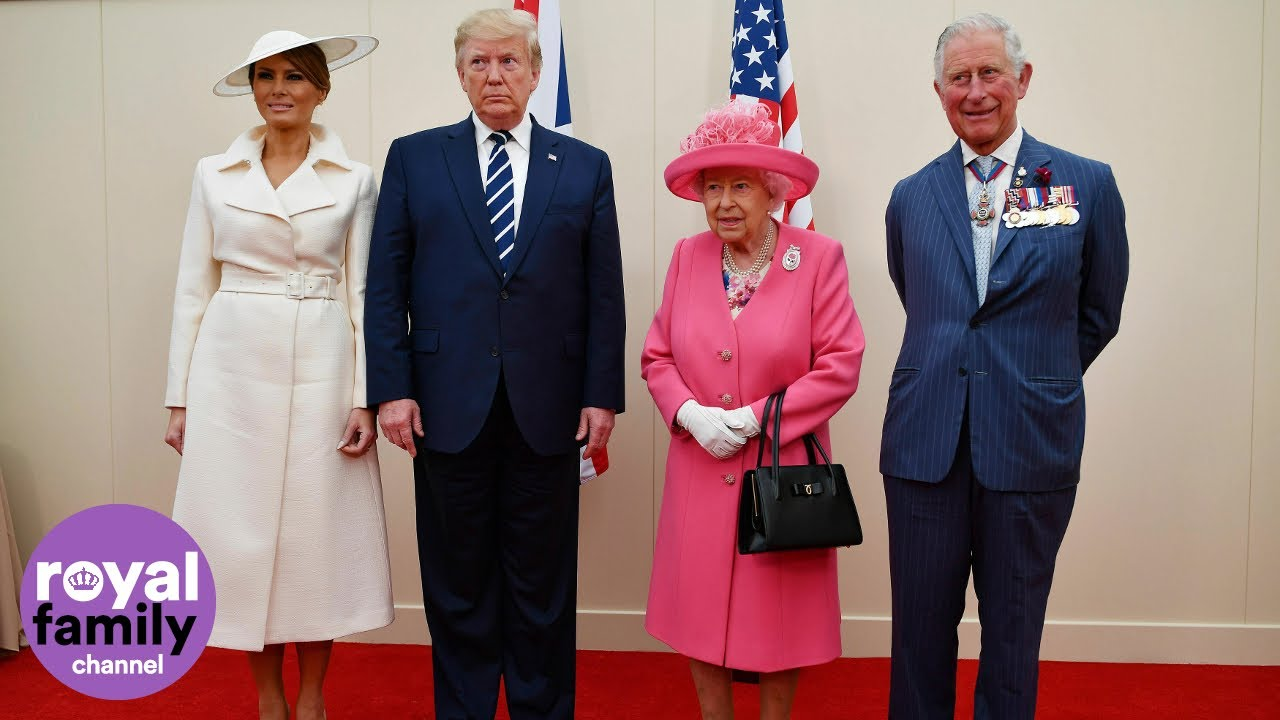 The Queen bids farewell to President Trump